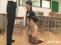 【肉便器JC】ロリカワJC中学生の木村つなちゃんにお仕置きと称して変態ロリコン先生が調教レイプまさに肉便器ww