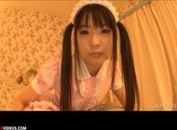 【つぼみ主観映像】ツインテールがロリ可愛いピンクなメイド娘つぼみちゃんがご主人様に乳首舐め&バキュームフェラでドSに責めちゃうんだおww