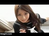 【主観フェラ】巨乳AVアイドル北川瞳ちゃんが黒セーラー服で主観フェラチオww
