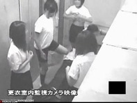 【更衣室盗撮】メスの臭いでムンムンしている女子更衣室を盗撮してたら高校教師とロリ女子高生がww行為室なだけに(笑)ww