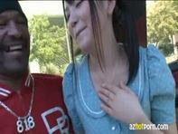 【木村つな×黒人】JCみたいなロリかわいい木村つなちゃんが黒人相手にハメまくるカーセックスww