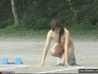 【全裸運動会】AV女優たちの全裸運動会!おっぱいプルプル丸見えオマンコで障害物競走ww