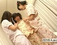 【JSレズお泊り会】ツインテールのJSロリっ娘がお泊り会でレズビアンの友達に全身を舐めまくられるとかけしからんw(むっくりギンギンww