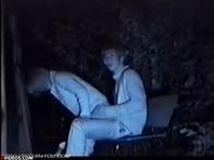 【バカップル盗撮】深夜の大阪城公園で野外セックスする性欲旺盛なリア充バカップルを赤外線盗撮ww