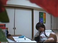 【JS性教育】キモーいメタボ大学生の家庭教師に犯されるノーパンM字開脚JSが今日も明日も性教育アヘ顔でエッチのお勉強ww