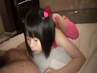 【JSハメ撮り】まだ毛も生えていないパイパンJS幼女にランドセル背負わせてラブホテルで性教育しちゃうハメ撮り個人撮影ww
