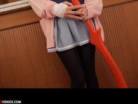 【早乙女らぶ】アニキャラコスプレ大好きメガネっ娘早乙女らぶちゃんが黑パンスト越しでM字開脚電マオナニーww
