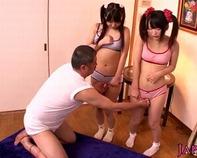 【JS性教育】ツインテールのちっぱいJSロリっ娘にリモバイ装着させてエッチのお勉強フェラチオ&玉袋舐めハーレム逆3Pww