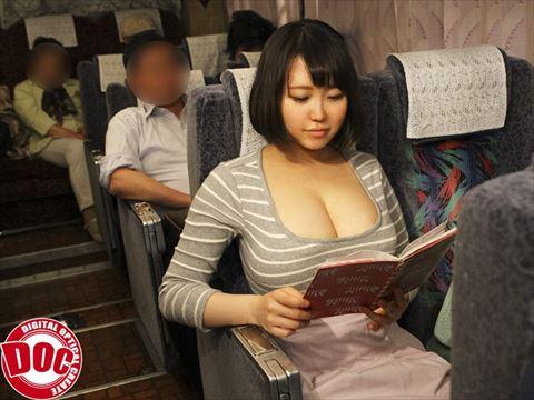 夜行バスで媚薬を擦り込まれ中出しされた美巨乳女は薬の効果が切れず近くの男を発情逆レイプ