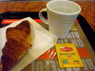 ブリュッセル空港lipton