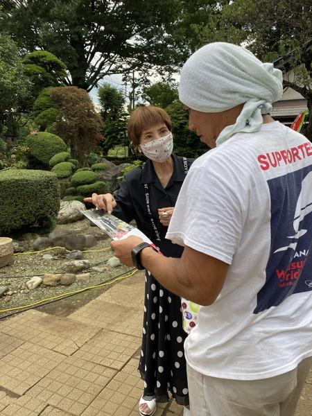 柳下礼子の県政ニュースレターを届け地域訪問
