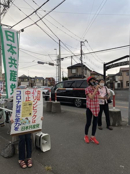 スーパーあまいけ前で宣伝 (3)