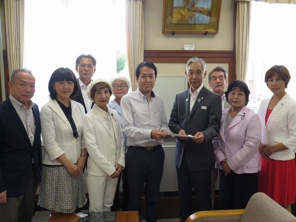 豪雨災害について上田清司知事に申し入れ1