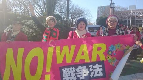 「戦争法は今すぐ廃止」昼休みパレード2