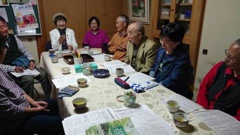 県議会報告をしながら旧町支部と地域を訪問2