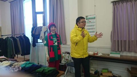 所沢建設労働者、北野、三ヶ島の党後援会が餅つき大会とバザー