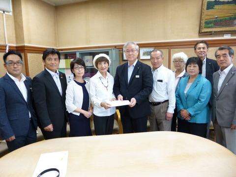 災害対策副知事申し入れ 執行部との話し合い (1)
