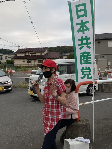 スーパーあまいけ前で宣伝 (4)