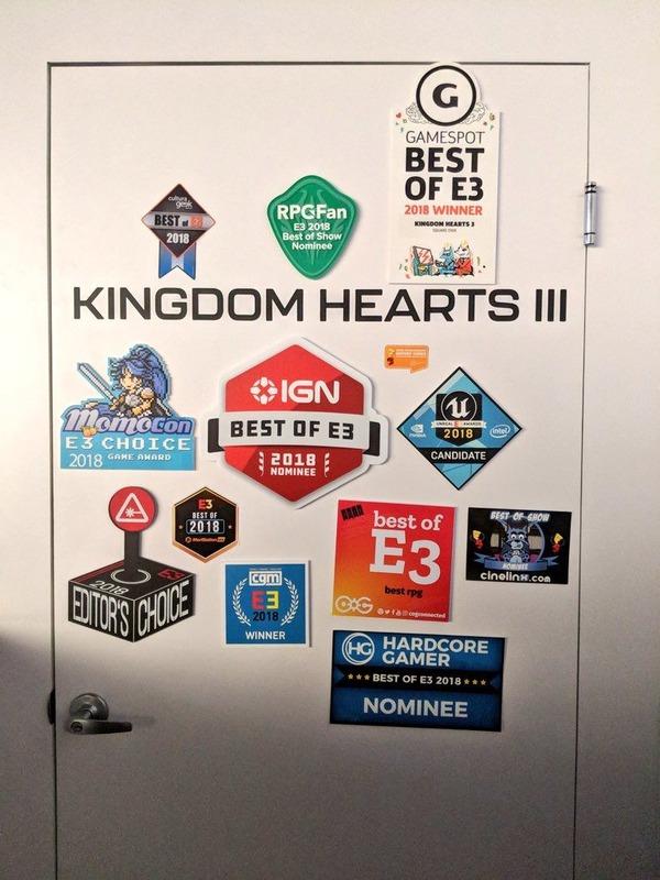 キングダムハーツ3さん、ベストオブE3を多数獲得!!