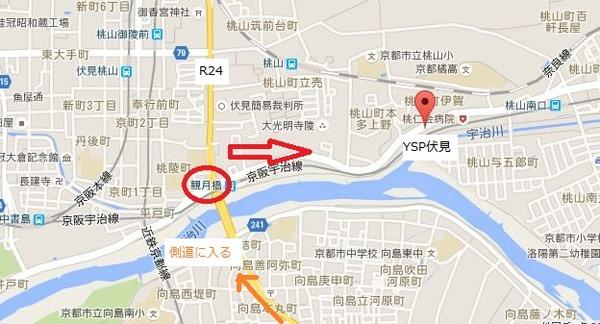 奈良からYSP伏見地図
