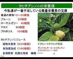 タヒチアンノニの栄養価