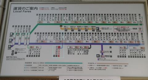 高師浜線運賃表