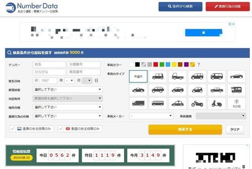 煽り運転など迷惑車ナンバーを共有するサイト。効果と課題は