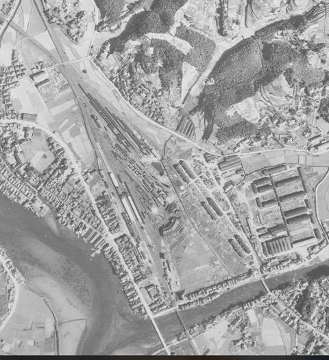 早岐駅1 1948