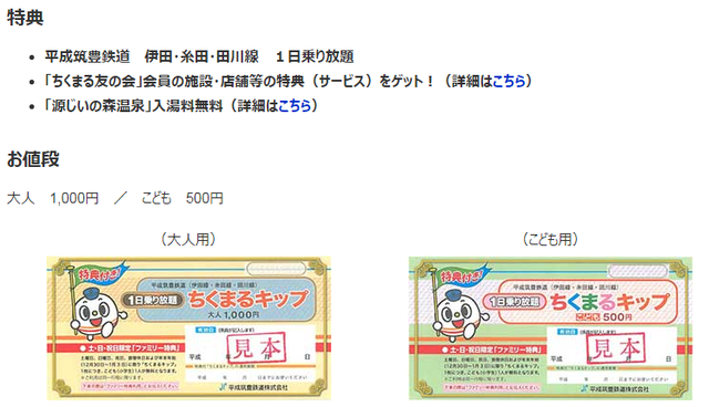 1000円フリーきっぷ