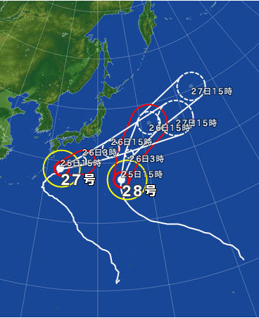 日常 台風2発