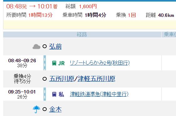 弘前→金木1