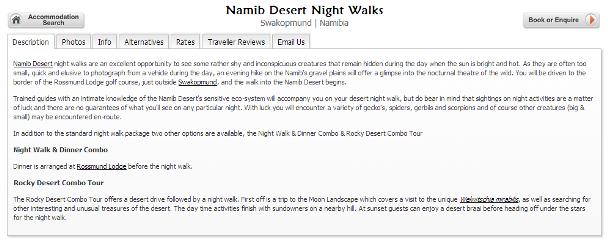 スワコプムンド Desert Night Walk