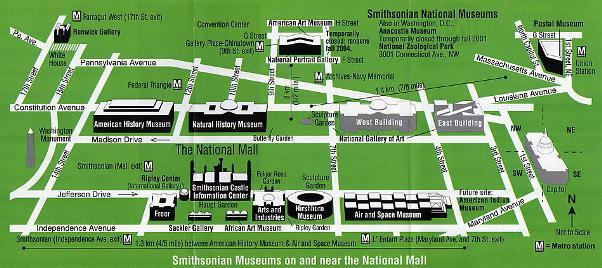 2014年GW スミソニアン博物館 位置