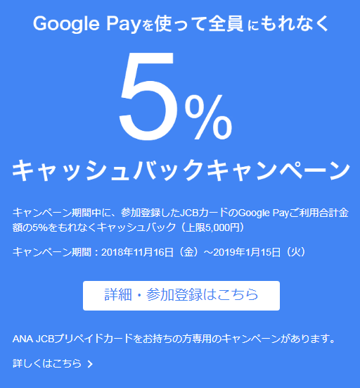 Google Pay 5% 1