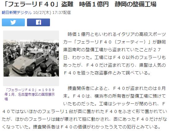 気になるニュース4 F40