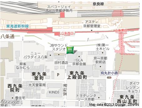ibis 京都 地図