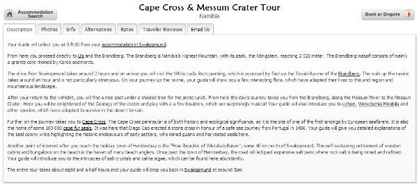 スワコプムンド Cape cross activities