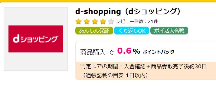 dショッピング ポイントサイト