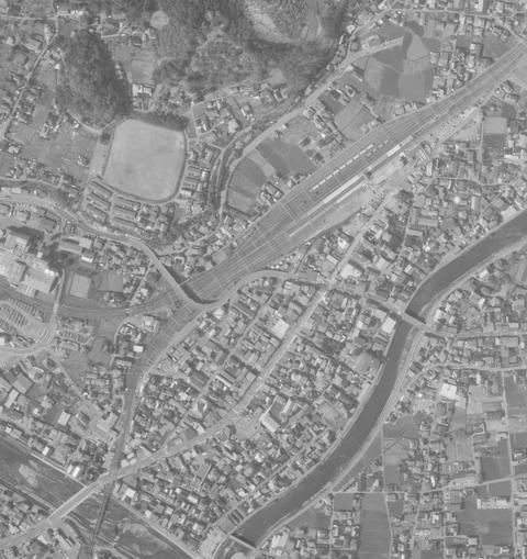 辰野駅 1975年