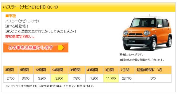 ジャパンレンタカー4 ハスラー