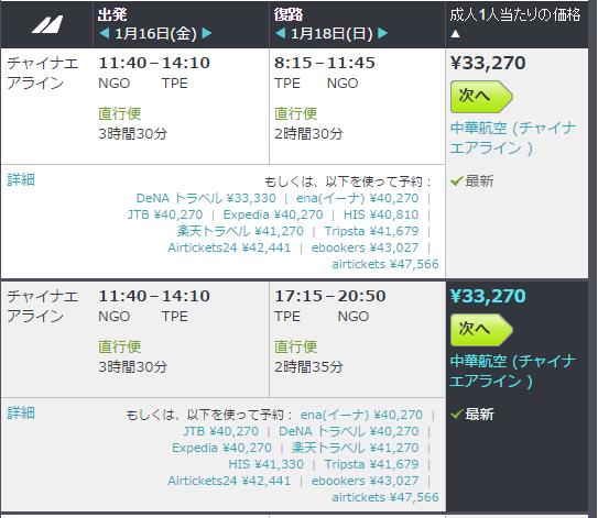 台湾 Air0 チケット CI