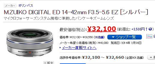 ZUIKO DIGITAL ED 14-42mm