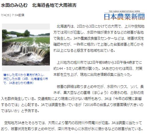 北海道 水害