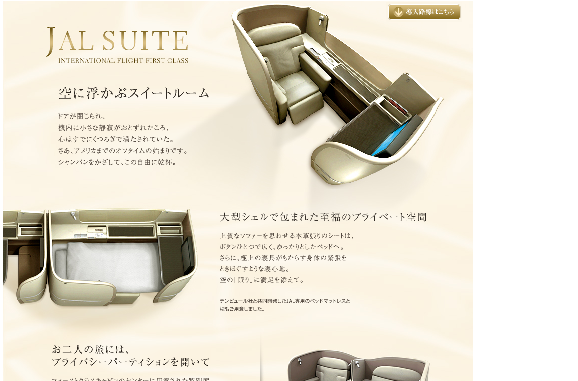 JAL F seat