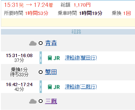 津軽線 三厩0