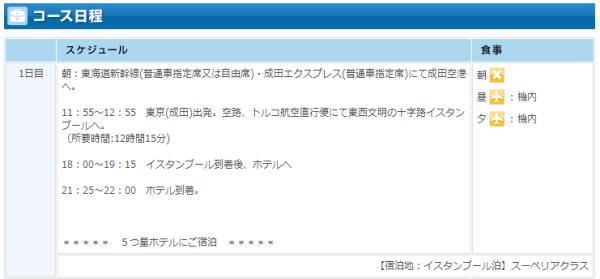 阪急 トルコ3 旅程1