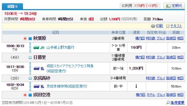 秋葉原→成田1