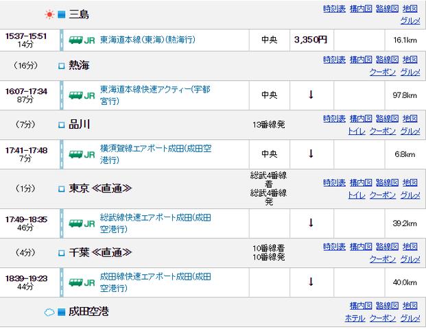 1-2三島→成田
