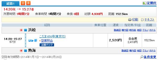 浜松→熱海