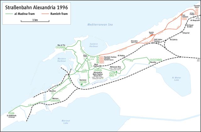アレクサンドリアのトラム